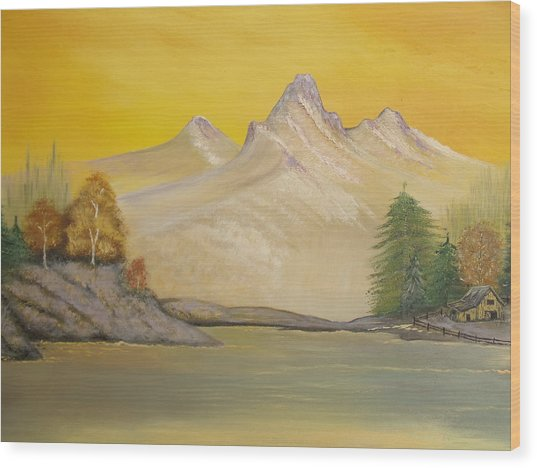 Sunrise Golden Glow Wood Print