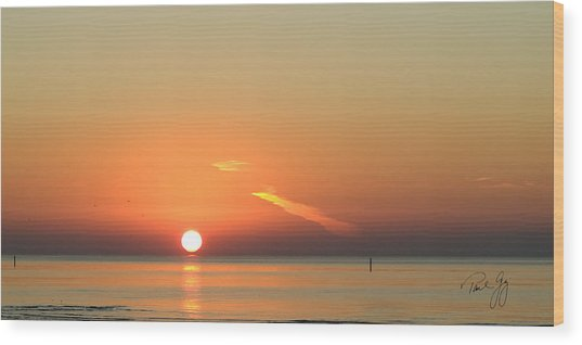 Sunrise Gulfport Mississippi Wood Print