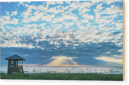 Sunrise Hope Delray Beach Florida Wood Print