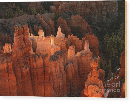 Sunrise In Bryce 6 Wood Print