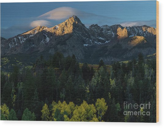 Sunrise In Colorado - 8689 Wood Print