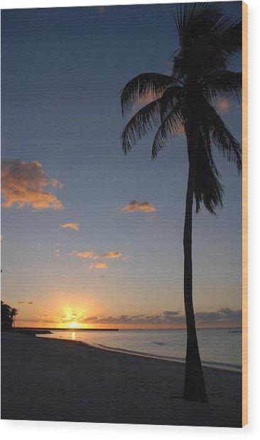 Sunrise In Key West 2 Wood Print
