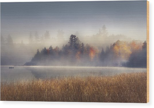 Sunrise In Lake Placid  Wood Print