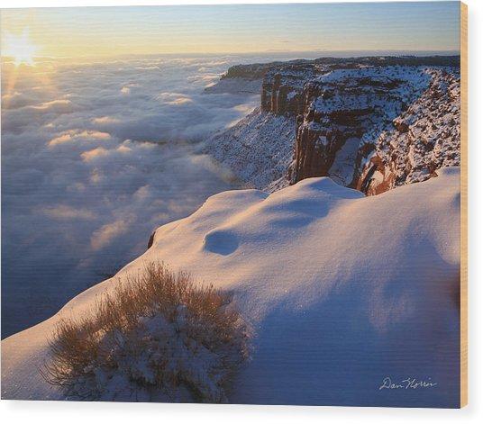 Sunrise Inversion At Buck Canyon Overlook Wood Print