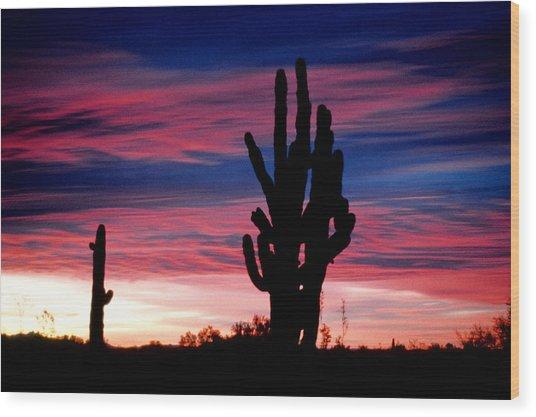 Sunrise Wood Print by John Gee