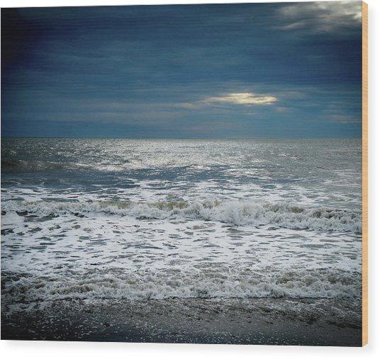 Sunrise-kennebunk Beach Wood Print