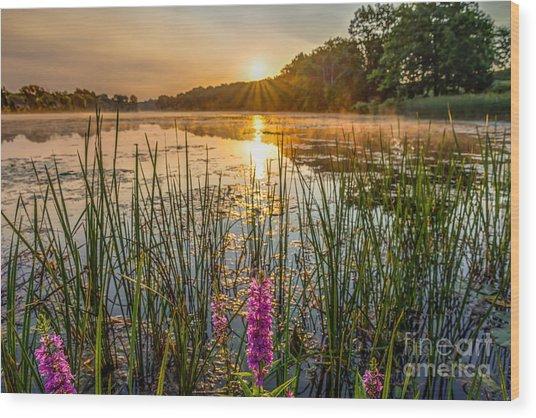 Sunrise Kent Lake Wood Print