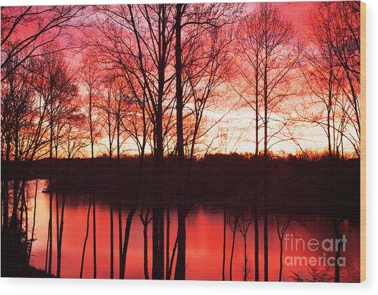 Sunrise Lake Norman North Carolina Wood Print