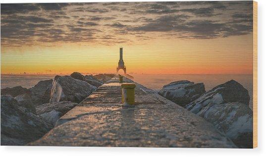 Sunrise Magic Wood Print