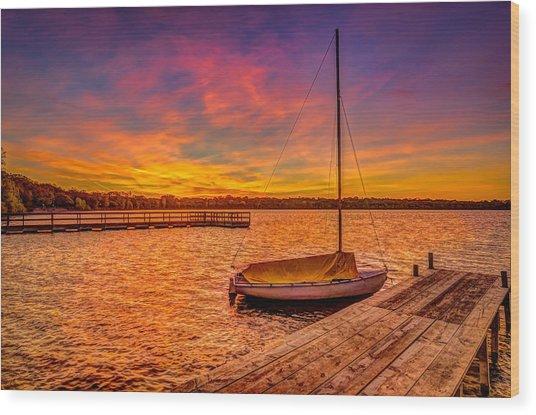 Sunrise Minneapolis Wood Print