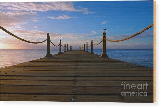 Sunrise Morning Bliss Pier 140a Wood Print
