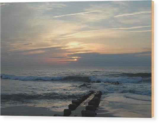 Sunrise Ocean 50 Wood Print by Joyce StJames