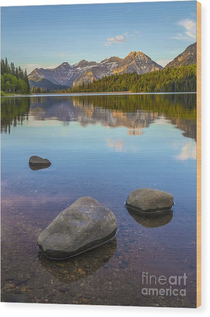Sunrise On Mount Timpanogos Wood Print