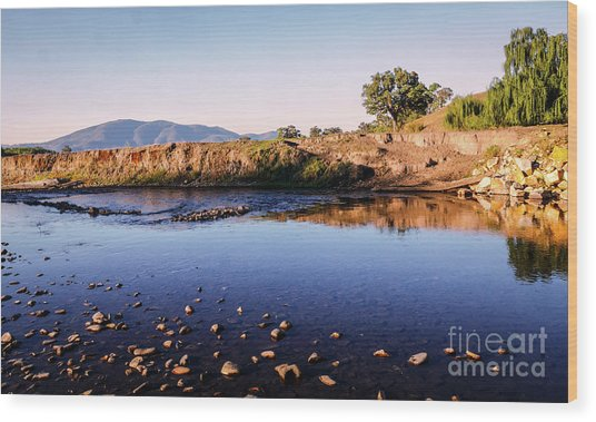 Sunrise On Nariel Creek Wood Print