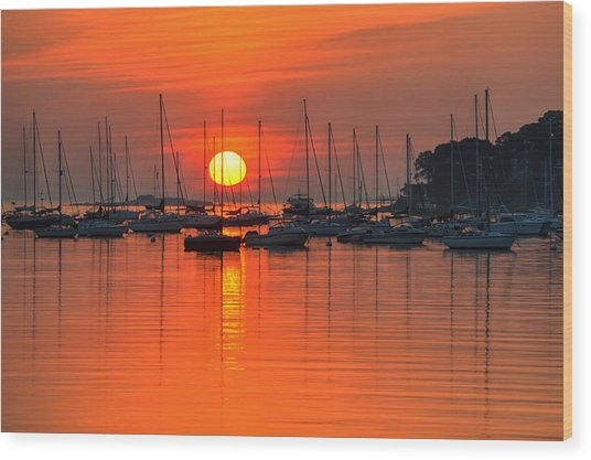 Sunrise On Salem Harbor Salem Ma Wood Print