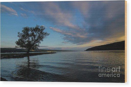 Sunrise On Seneca Lake Wood Print