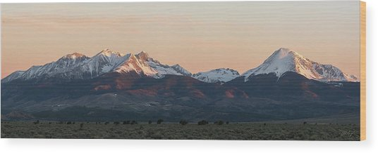 Sunrise On The Blanca Group Wood Print by Aaron Spong