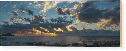 Sunrise On The French Riviera Wood Print