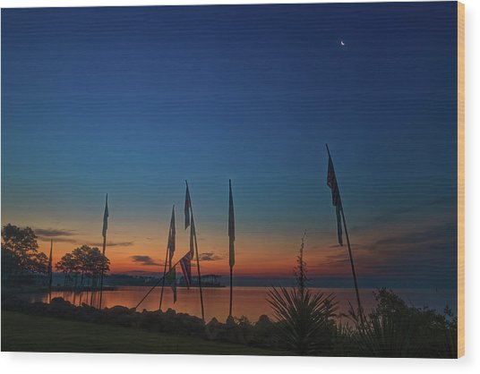Sunrise On The Neuse 1 Wood Print