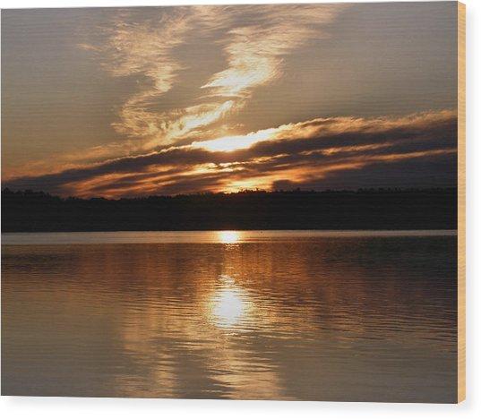 Sunrise On The Turtle Flambeau Flowage Wood Print