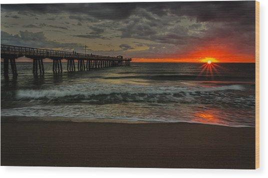 Sunrise On The Water Wood Print