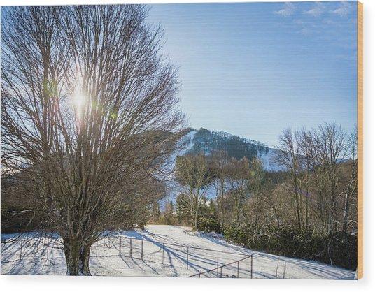 Sunrise Over Cataloochee Ski Wood Print