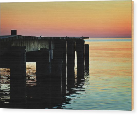 Sunrise Over Chesapeake Bay Wood Print