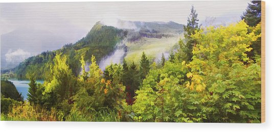 Sunrise Over Echo Lake Wood Print