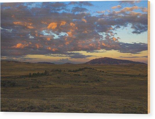 Sunrise Over Elk Mountain Wood Print