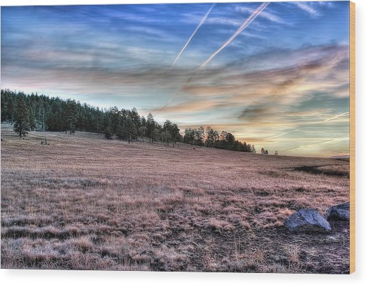 Sunrise Over Ft. Apache Wood Print