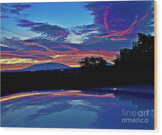 Sunrise Over Mauna Kea Wood Print