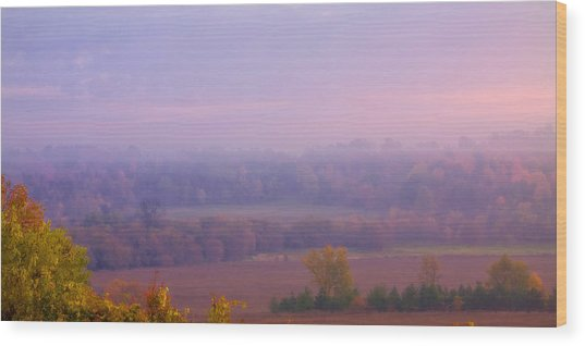 Sunrise Over Mid Valley 2 Wood Print