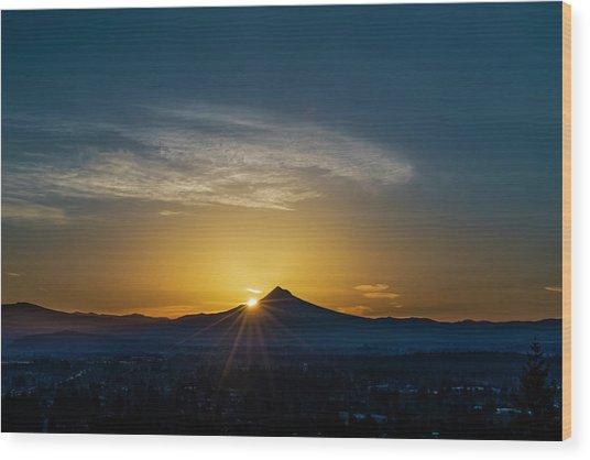 Sunrise Over Mt. Hood Wood Print