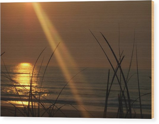 Sunrise Over The Atlantic Wood Print by James and Vickie Rankin