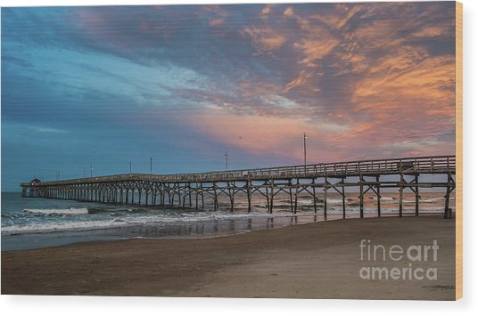 Sunset Over The Atlantic Wood Print