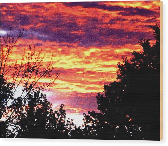 Sunrise Over The S.p. Wood Print by Nathaniel Hoffman