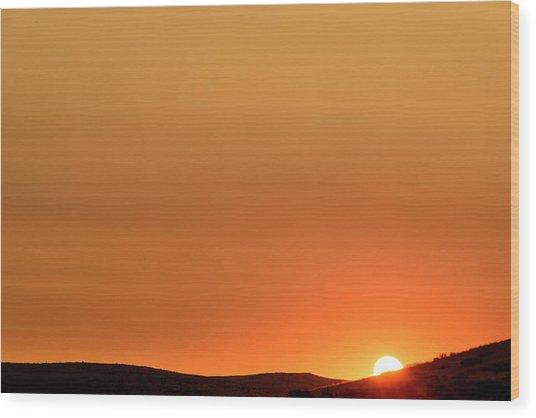 Sunrise Over The Umtanum Ridge Wood Print
