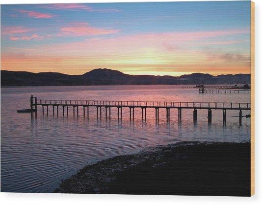 Sunrise Over Tomales Bay Wood Print