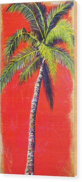 Sunrise Palm Wood Print