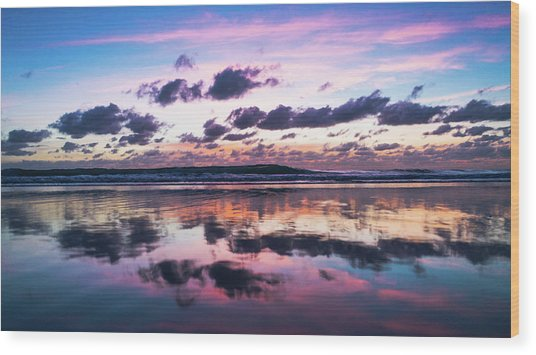 Sunrise Pink Wisps Delray Beach Florida Wood Print