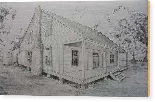 Sunrise Plantation  Wood Print
