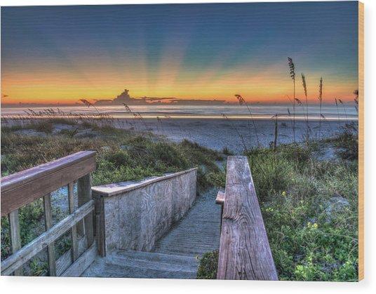 Sunrise Radiance Wood Print