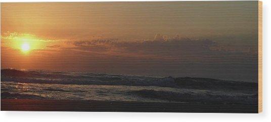 Sunrise Wood Print by Rayne Van Sing