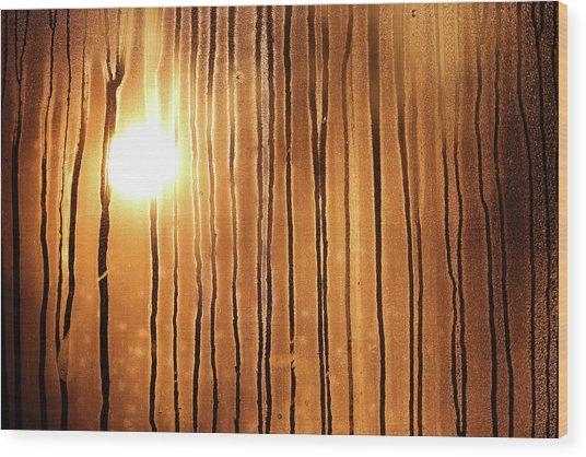 Sunrise Wood Print by Robin Street-Morris