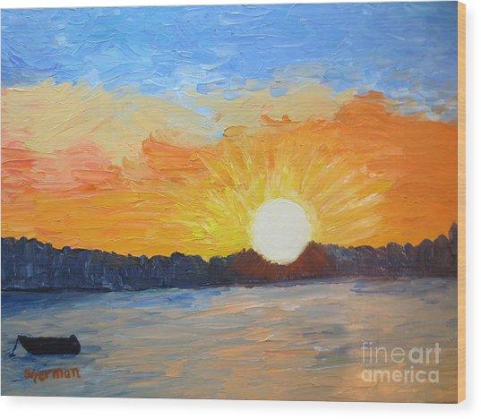 Sunrise At Pine Point Wood Print