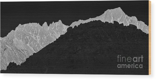 Sunrise Sierra Nevada And Alabama Hills Lone Pine California Wood Print