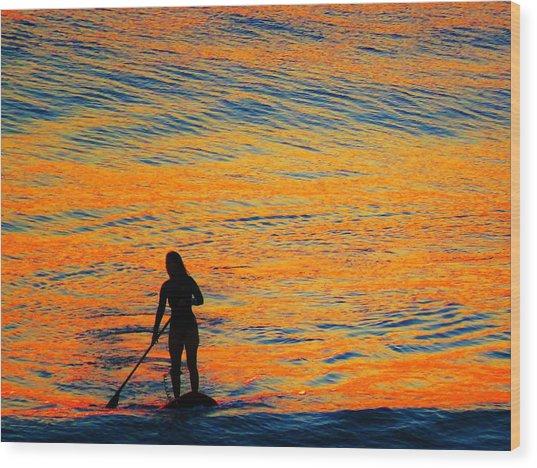Sunrise Silhouette Wood Print