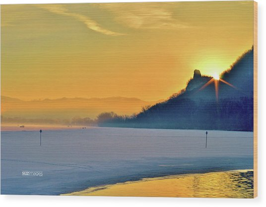 Sunrise Sparkle Wood Print