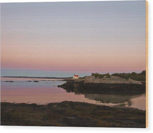 Sunrise Spillover Wood Print