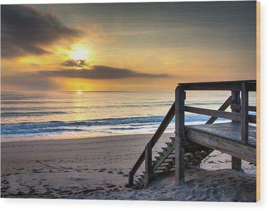 Sunrise Stairway Wood Print